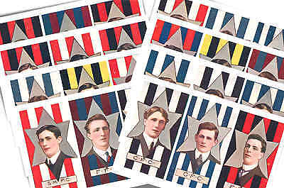 Australian Footballers 1912 - New Collectable Postcard Set