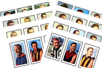 Australian Footballers 1964 - New Collectable Postcard Set # 1