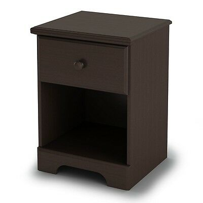 South Shore Summer Breeze Night Stand - Chocolate