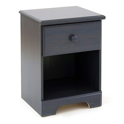 South Shore Summer Breeze 1-Drawer Night Stand, Blueberry