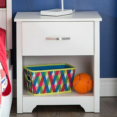 South Shore Fusion Night Stand, Pure White