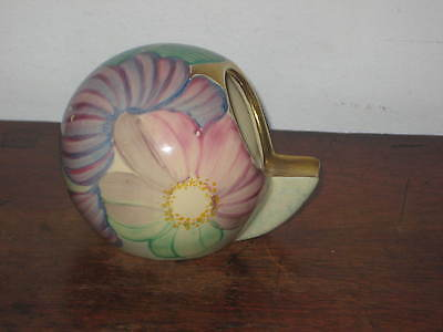 Unusual Gray's  Ashtray Hand Panted Flowers Art Deco