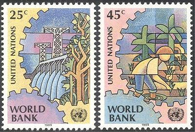 UN (NY) 1989 World Bank/Business/Commerce/Dam/Electricity/Rice Farming 2v n43018