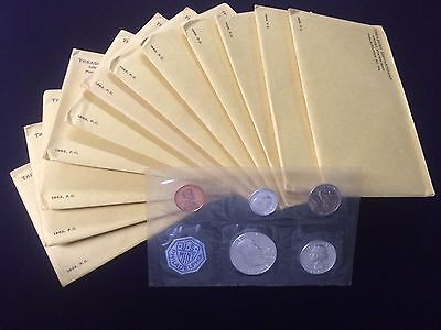 1963 Us Proof Set Sealed Envelope 90% Silver Franklin Half, Quarter & Dime