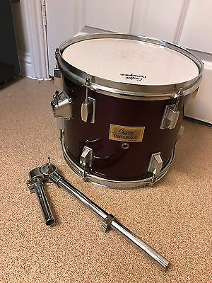 """12"""" Rack To Drum In A Wine Red Wrap By Custom Percussion With Tom Mount"""