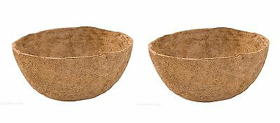 "2 x Blacksmith Hanging Basket Coco Liners 35cm (14"") - Pot Plant liners"