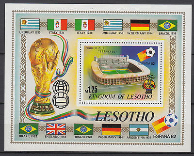 Lesotho 1982 ** Bl.14 FIFA world cup WM Fußball football Stadion [st2701]