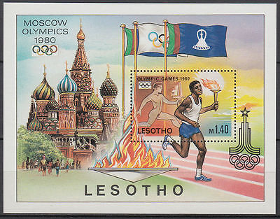 Lesotho 1980 ** Bl.5 Olympische Spiele olympic games Moscow [st2714]