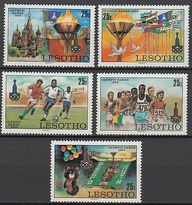Lesotho 1980 ** Mi.291/95 Olympische Spiele olympic games Moscow [st2715]