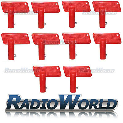 10 x Spare Keys For Battery Isolator Switch Cut Off Power Red Kill Key Car/ Boat