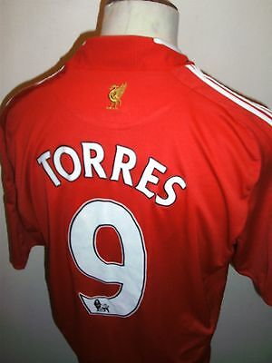 Liverpool Football Shirt Size Large Torres