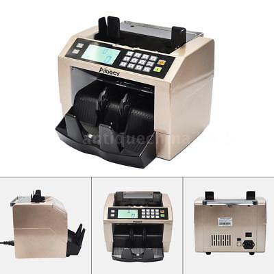 NEW LCD Bill Money Cash Counter Currency Counting Bank Machine UV MG Counterfeit