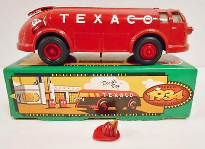 1934 Texaco Diamond T Tanker Locking Coin Bank With Key Die Cast Doodle Bug