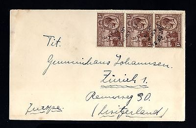 14883-TRINIDAD & TOBAGO-OLD COVER PORT of  SPAIN to SWITZERLAND.1929.British.