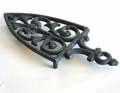 "Cast Aluminum Footed Trivet Sad Iron Shape 8.5"" vintage FREE SH"