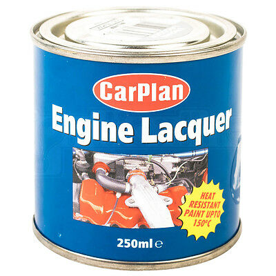 CarPlan Engine Lacquer Silver Heat Resistant Paint Protection Gloss 250ml