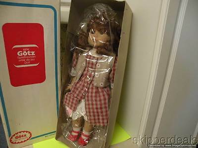 """Gotz 19"""" Vinyl & Cloth Doll Red Rooted Hair W/box West Germany"""