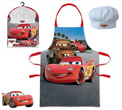 Boys Kids Disney Cars 2 Piece Chef Cook Baking Gift Set Includes Apron And Hat