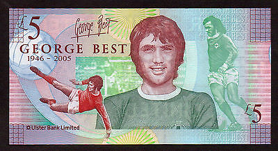 GEORGE BEST £5 Sterling Note   LIMITED EDITION