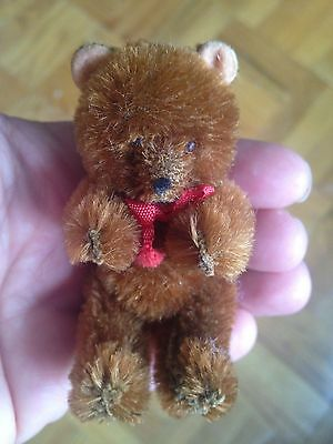 "RARE Antique Vintage 3"" LIMB MOHAIR JOINTED TEDDY BEAR TOY GERMAN CUTE BUY NOW!"