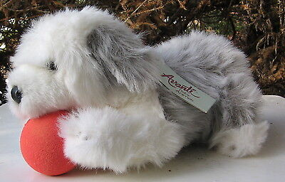 Vintage Old English Sheepdog Plush Stuffed Toy Avanti Baby Animal