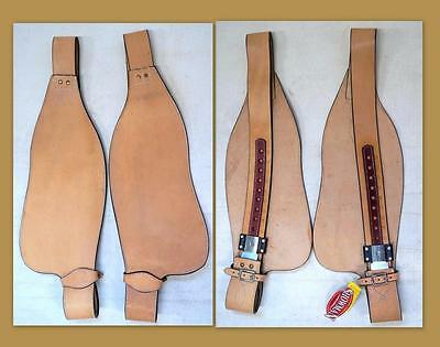 LIGHT Smooth leather Replacement fenders ONLY for Western Adult saddle SHOWMAN