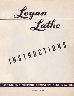 Logan 820 Lathe Instruction Manual