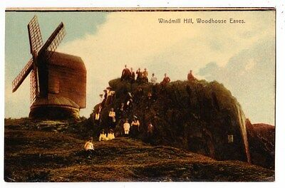 Early Postcard,Leicestershire, Woodhouse Eaves, Windmill Hill, People Outside