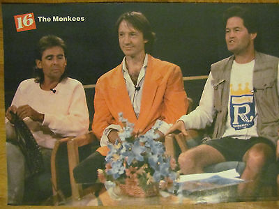 The Monkees, Chad Allen, Double Full Page Vintage Pinup