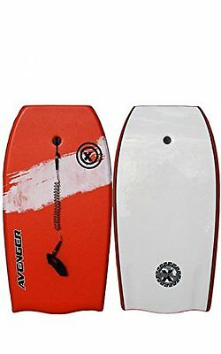 "Triple X ""The Avenger"" 41"" Bodyboard/Red/Bat Tail/Swivel Leash/PP Core/Close Out"