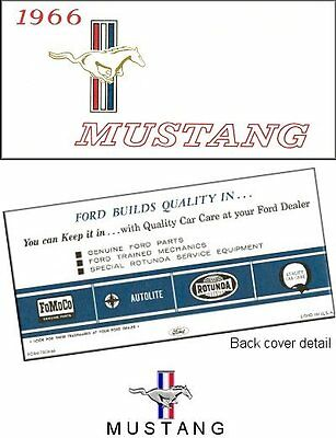 1966 Ford Mustang Owner's Manual