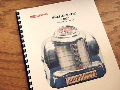 SEEBURG WALL-O-MATIC 100 Jukebox Service MANUAL 3W1 and 3W1D
