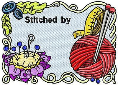 Stitching Tags Plus Bonus 10 Machine Embroidery Designs Cd 4 Sizes Included