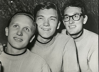 Buddy Holly & Crickets 1958 Original Press Photo - Print probably later, 1960s?