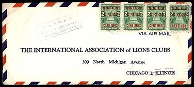 Costa Rica 0.25 centimos overprint cover to Chicago Illinois US 1963