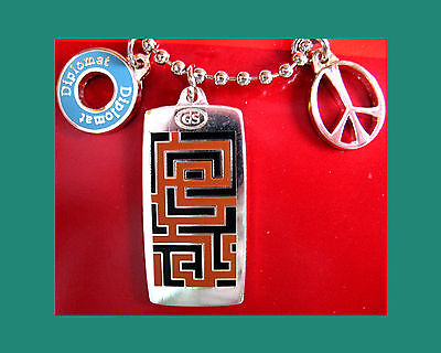 NEW 3 CHARMS on BALL CHAIN Girl Scout NECKLACE Journey Jewelry GIFT AMAZE