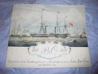 """ORIGINAL 1937 P&O SHIPPING BOOKLET - """"100 YEAR HISTORY OF THE P&O"""" by BOYD CABLE"""