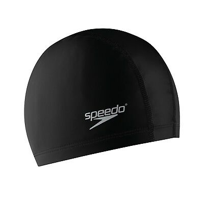 Speedo Stretch Fit Swimming Cap - Adult Extra Large - Black