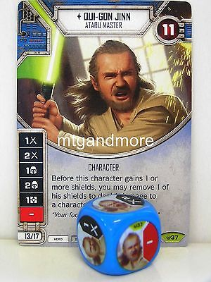 Star Wars Destiny - 1x #037 Qui-Gon Jinn + Die - Awakenings