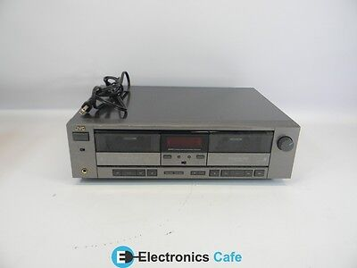 JVC TDW207 Stereo Audio Dual Cassette Deck Tape Player/Recorder