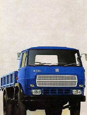 1971 Fiat 673N 674NR Truck Factory Photo ca6329
