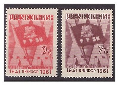Albania  1961  -   Communist Youth    Mnh Set   **