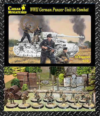 Caesar Miniatures 1/72 German Panzer Unit in Combat (WWII) # 085