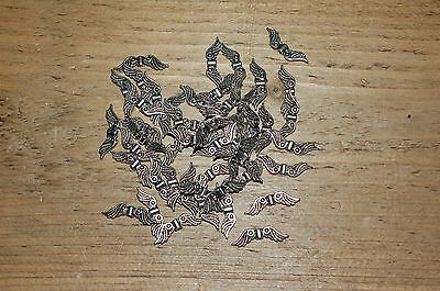500 ANGEL / FAIRY WINGS - Metal Charms Spacer Beads - 20mm - Silver Tone