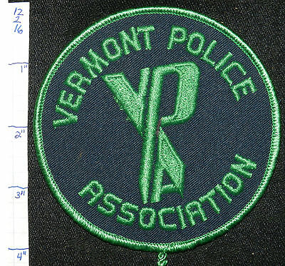 Vermont Police Association Vpa Blue & Green Patch