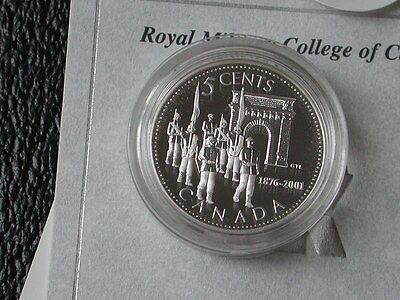 Canada 2001 Royal Military College 5 Cent Silver