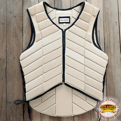 Hilason Adult Safety Equestrian Eventing Tan Protective Protection Vest Xsml