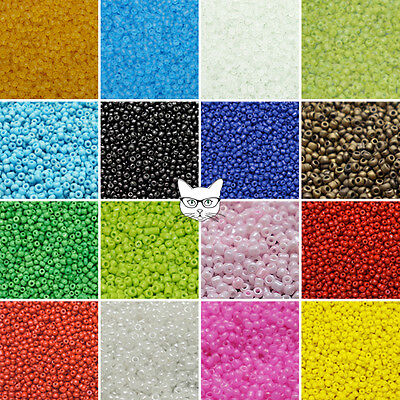 50g Glass Seed Beads Size 8/0 3mm Opaque Pearl Frosted Jewellery Making Craft