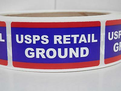USPS RETAIL GROUND 1x2 Mailing Shipping Stickers Labels 250/rl