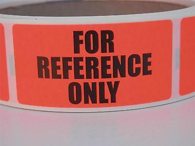 FOR REFERENCE ONLY 1x2 fluorescent red label sticker  250/rl